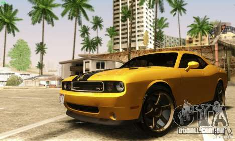 Dodge Challenger SRT-8 para GTA San Andreas vista interior