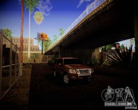 Ford Explorer para GTA San Andreas traseira esquerda vista