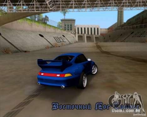Porsche 911 GT2 RWB Dubai SIG EDTN 1995 para GTA San Andreas vista inferior