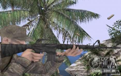 M16A1 Vietnam war para GTA San Andreas terceira tela