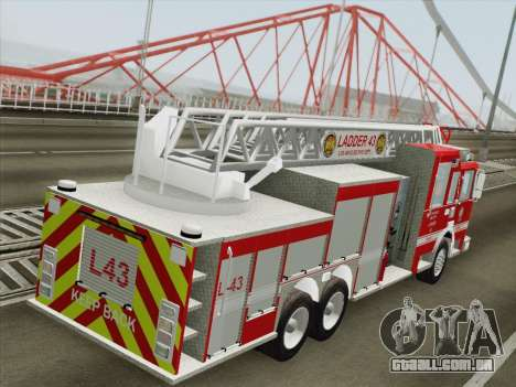 Pierce Arrow LAFD Ladder 43 para as rodas de GTA San Andreas