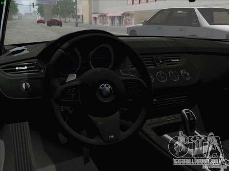 BMW Z4 2011 para GTA San Andreas vista direita