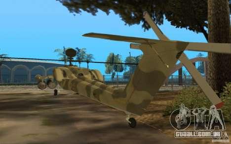 MI-28n para GTA San Andreas traseira esquerda vista
