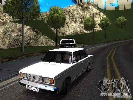 DAG VAZ 2107 para GTA San Andreas traseira esquerda vista