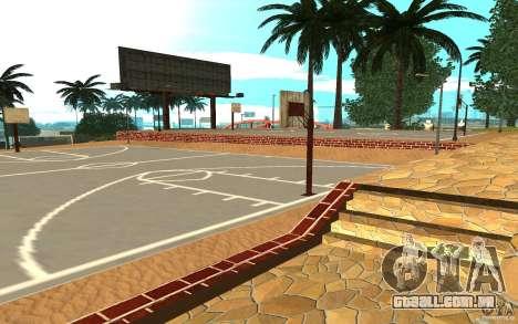 Nova quadra de basquete de texturas para GTA San Andreas segunda tela