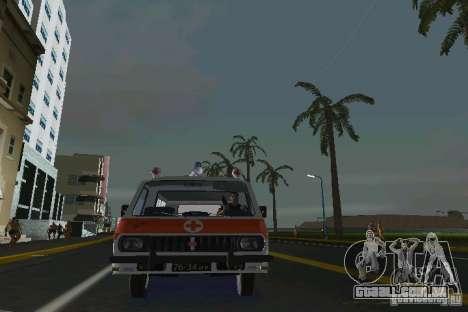RAF-22031 ambulância para GTA Vice City vista traseira esquerda