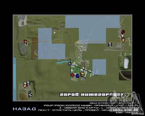 Nižegorodsk v. 0.1 BETA para GTA San Andreas quinto tela