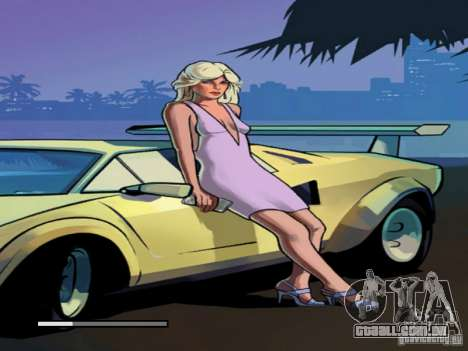 Tela de boot do Vice City para GTA San Andreas por diante tela