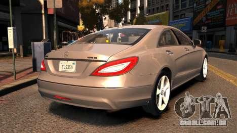 Mercedes-Benz DK CLS350 para GTA 4 traseira esquerda vista