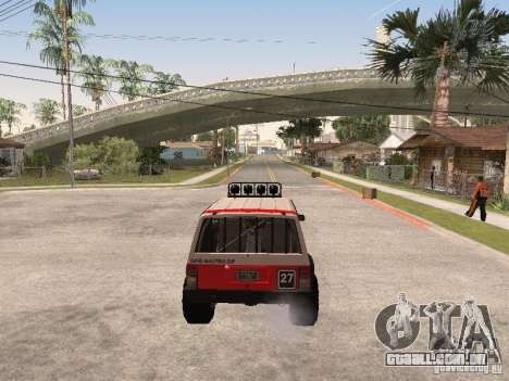 Jeep Cherokee 1984 para GTA San Andreas vista superior