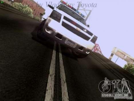Chevrolet Avalanche 2007 para GTA San Andreas vista traseira