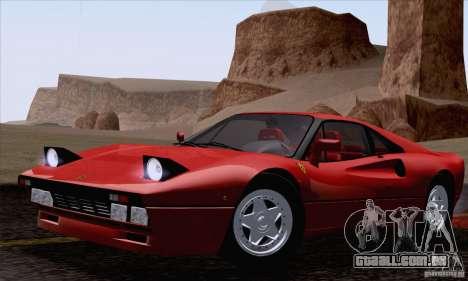 Ferrari 288 GTO 1984 para GTA San Andreas vista direita