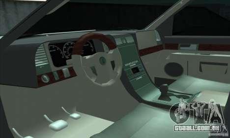 Lincoln Navigator para GTA San Andreas vista traseira