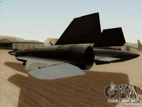 YF-12A para GTA San Andreas vista traseira