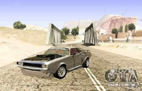 Dodge Charger 1969 SpeedHunters para GTA San Andreas traseira esquerda vista