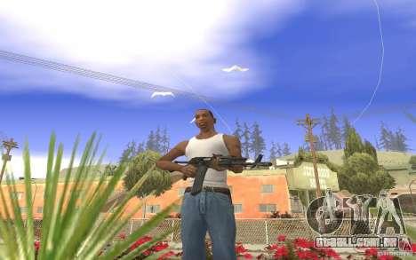 AK 101 para GTA San Andreas por diante tela