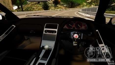 Honda NSX-R GT para GTA 4 vista de volta