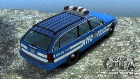 Chevrolet Caprice Police Station Wagon 1992 para GTA 4 esquerda vista