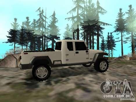 Jeep Gladiator para GTA San Andreas vista direita