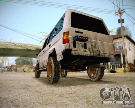 Daihatsu Taft Hiline Long para GTA San Andreas vista traseira