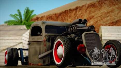 Rat Rod para GTA San Andreas vista traseira
