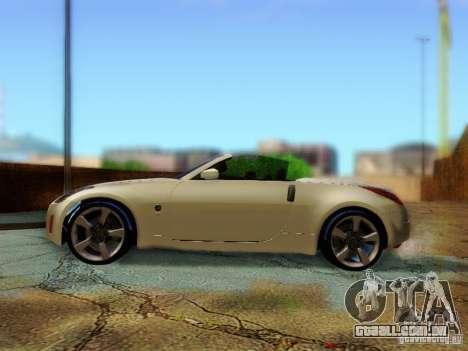 Nissan 350Z Cabrio para GTA San Andreas vista direita