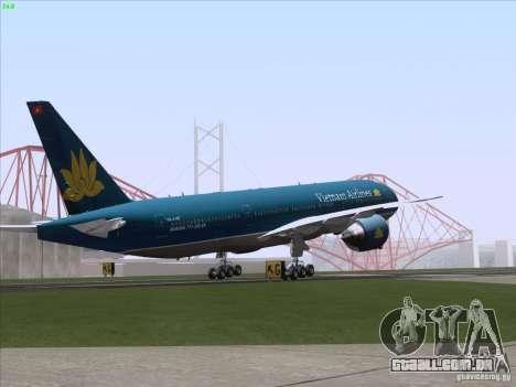 Boeing 777-2Q8ER Vietnam Airlines para o motor de GTA San Andreas