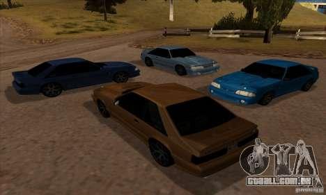 Ford Mustang SVT Cobra 1993 para GTA San Andreas vista traseira