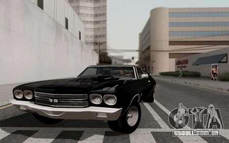 Chevrolet Chevelle SS 454 1970 para GTA San Andreas vista traseira