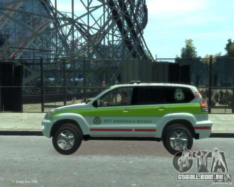Toyota Land Cruiser Prado Police para GTA 4 esquerda vista
