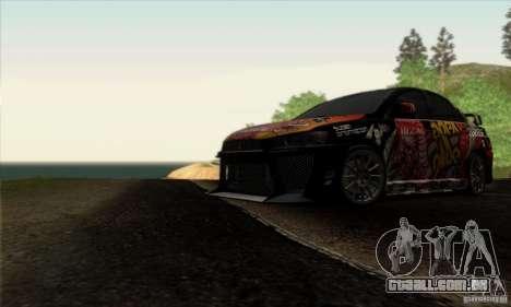 Mitsubishi Lancer Evolution X 2008 para GTA San Andreas interior