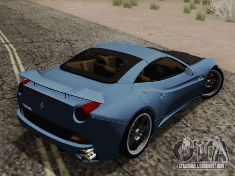 Ferrari California para GTA San Andreas vista inferior
