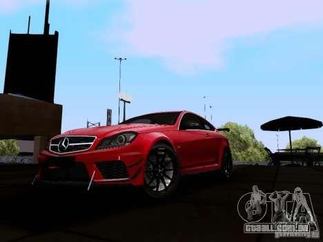 Mercedes-Benz C63 AMG 2012 Black Series para GTA San Andreas