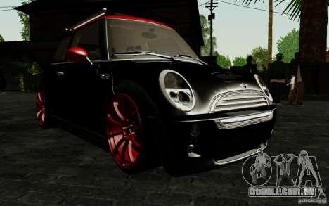 Mini Cooper S Tuned para vista lateral GTA San Andreas