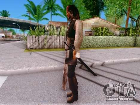 Jack Sparrow para GTA San Andreas por diante tela