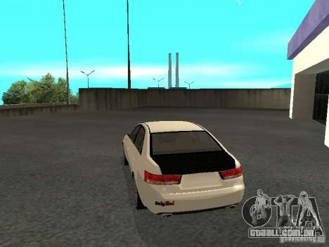 Hyundai Sonata 2008 para GTA San Andreas esquerda vista