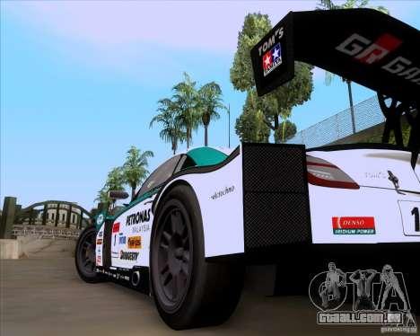 Lexus Sc430 para GTA San Andreas traseira esquerda vista