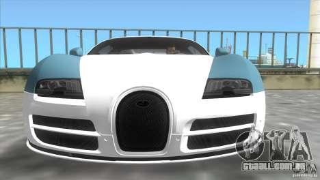 Bugatti ExtremeVeyron para GTA Vice City vista traseira esquerda