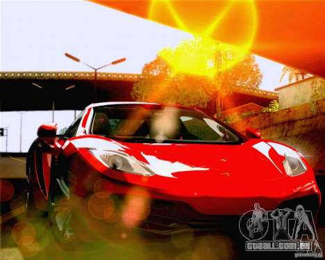Lensflare Settings para GTA San Andreas por diante tela