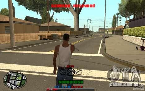 Cleo HUD by Cameron Rosewood V1.0 para GTA San Andreas por diante tela