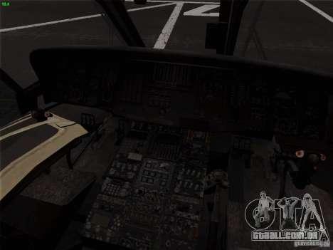S-70 Battlehawk para GTA San Andreas vista traseira