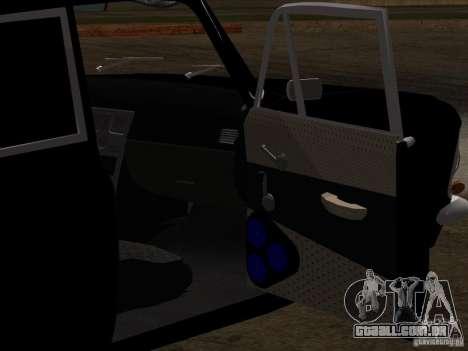 Estilo Extra Moskvitch 408 para GTA San Andreas vista inferior