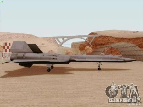 YF-12A para GTA San Andreas traseira esquerda vista