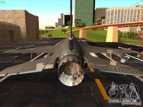 F-16C Fighting Falcon para GTA San Andreas vista interior