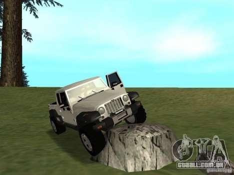 Jeep Gladiator para GTA San Andreas vista traseira