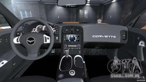 Chevrolet Corvette ZR1 para GTA 4 vista superior