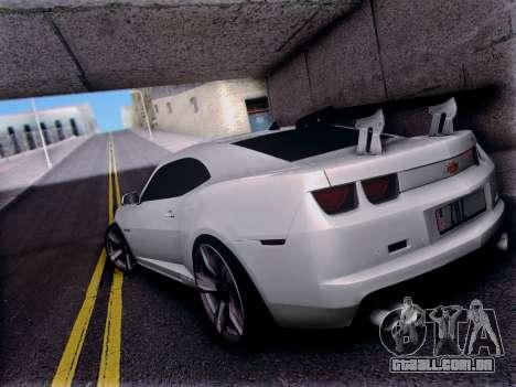 Chevrolet Camaro ZL1 SSX para GTA San Andreas traseira esquerda vista