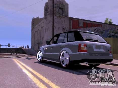 Range Rover DUB 2.0 para GTA 4 traseira esquerda vista