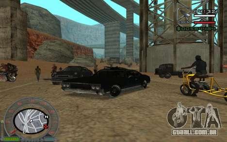 New Sabre para GTA San Andreas vista traseira