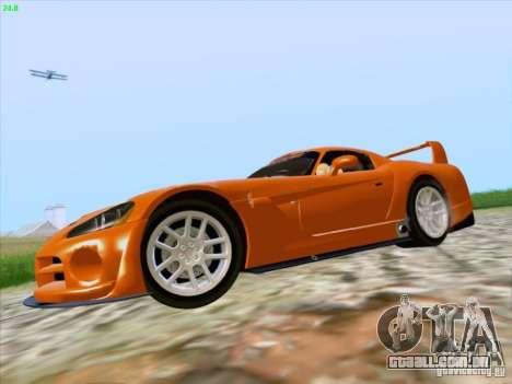 Dodge Viper GTS-R Concept para GTA San Andreas vista traseira